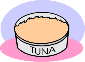 Tuna in a can