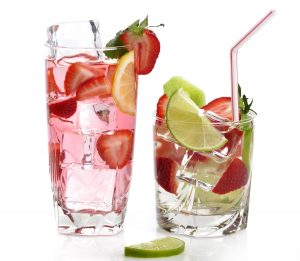 Strawberry and Lime Infused Water