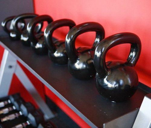 Rack of Kettle bells