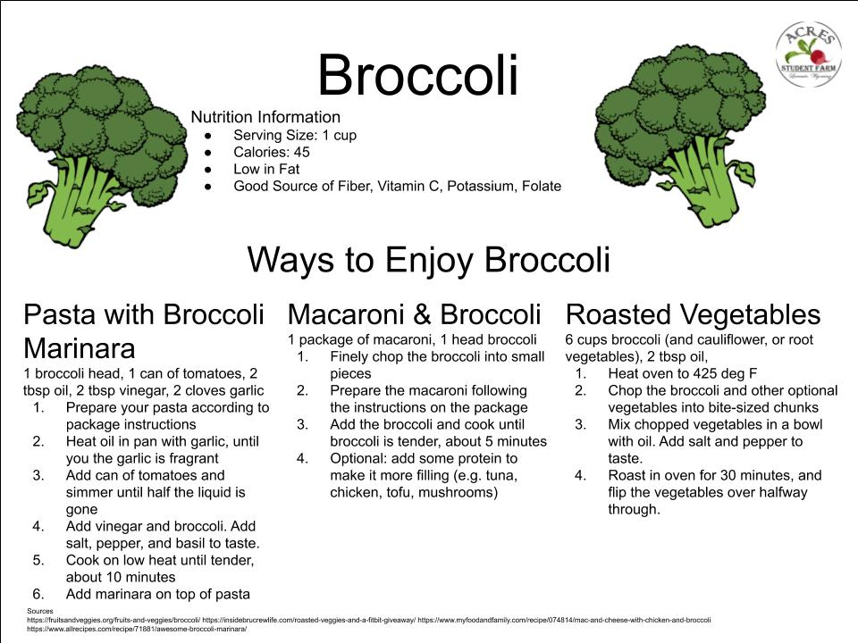 Broccoli Flier