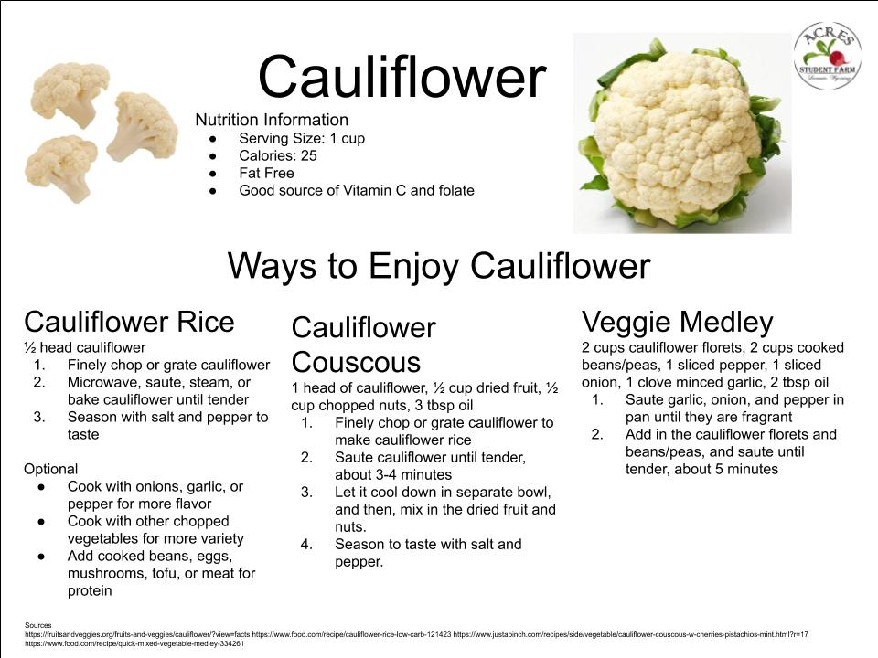 Cauliflower Flier