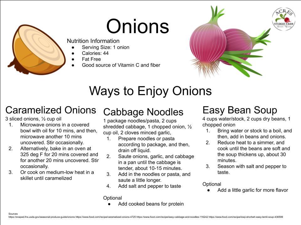 Onions Flier