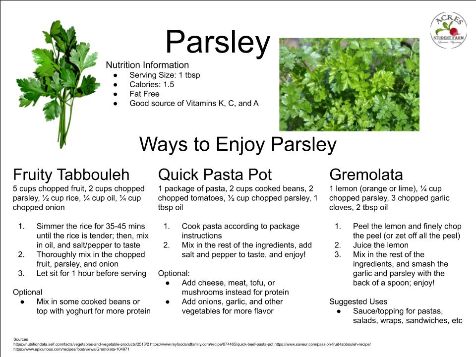 Parsley Flier