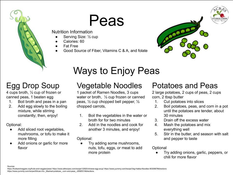 Peas Flier