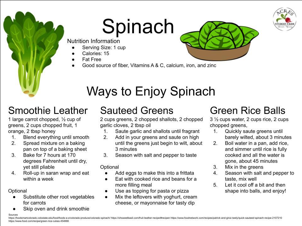 Spinach Flier