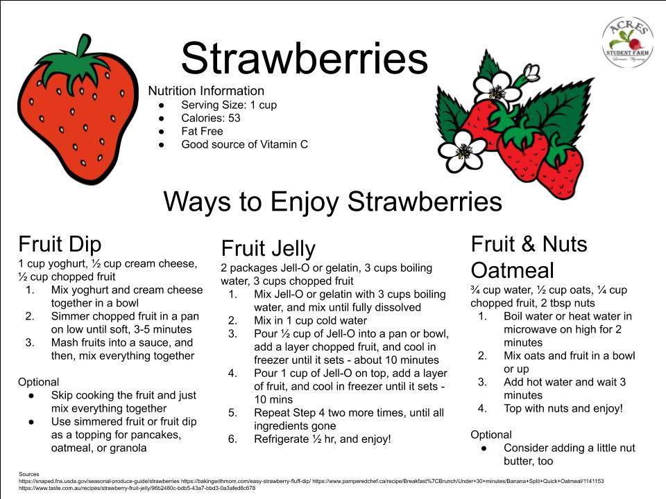 Strawberries Flier