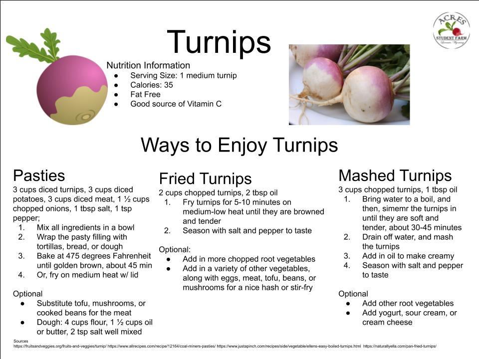 Turnips Flier