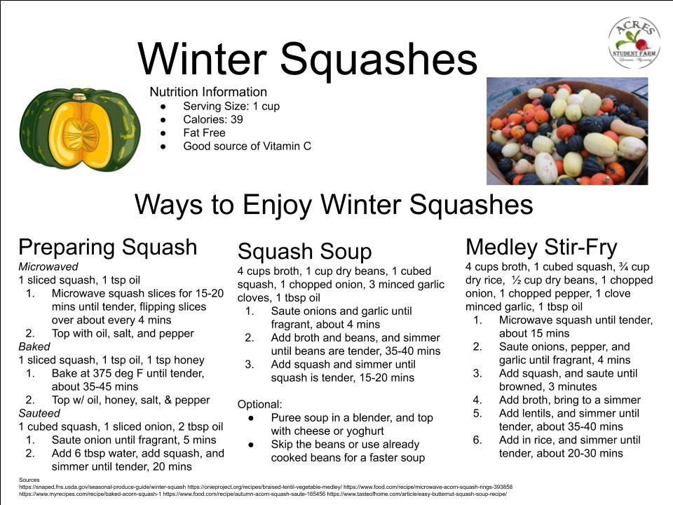 Winter Squashes Flier