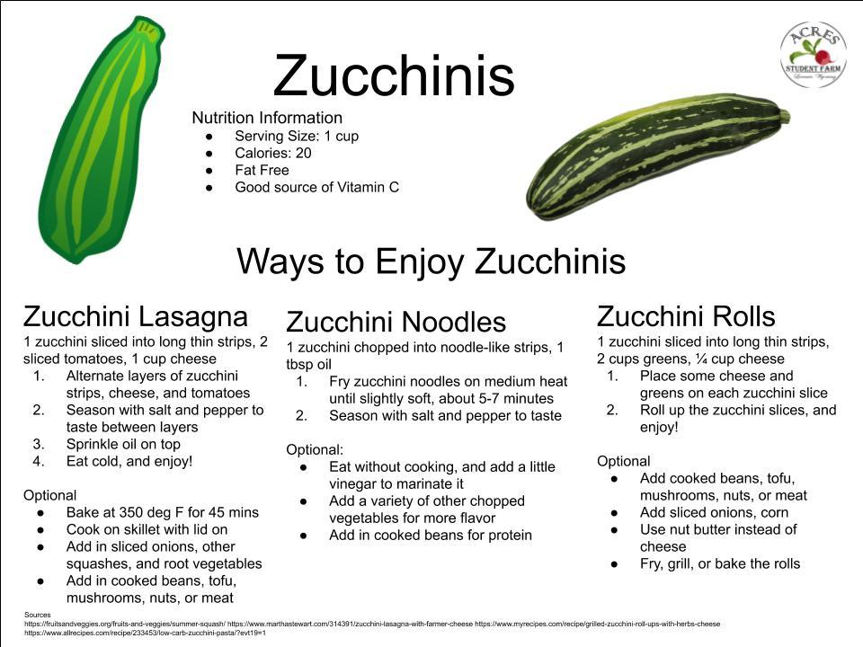 Zucchinis Flier