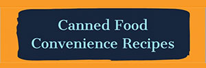 Canned Food Convience Recipes - Orange Flier